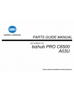 Konica-Minolta bizhub-PRO C6500 Parts Manual