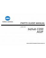 Konica-Minolta bizhub C200 Parts Manual