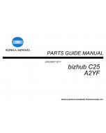 Konica-Minolta bizhub C25 Parts Manual