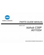 Konica-Minolta bizhub C30P Parts Manual