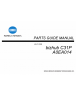 Konica-Minolta bizhub C31P Parts Manual