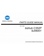 Konica-Minolta bizhub C352P Parts Manual
