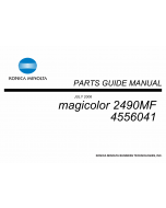 Konica-Minolta magicolor 2490FM Parts Manual