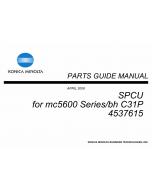 Konica-Minolta magicolor 5650 C31P SPCU 4537615 Parts Manual