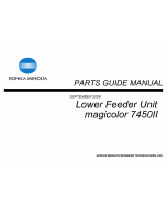 Konica-Minolta magicolor 7450II Lower-Feed Unit Parts Manual