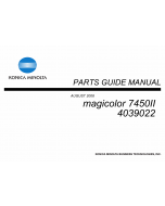 Konica-Minolta magicolor 7450II Parts Manual