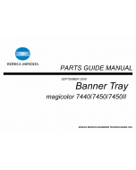 Konica-Minolta magicolor 7450 7440 7450II Banner-Tray Parts Manual