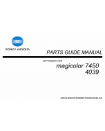 Konica-Minolta magicolor 7450 Parts Manual