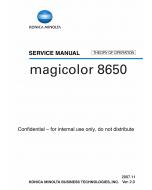 Konica-Minolta magicolor 8650 THEORY-OPERATION Service Manual