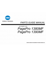Konica-Minolta pagepro 1380MF 1390MF Parts Manual