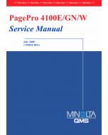 Konica-Minolta pagepro 4100E Parts Manual