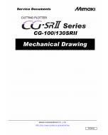 MIMAKI CG SRII 100 130 MECHANICAL DRAWING Parts Manual