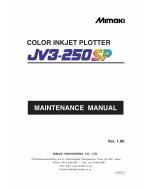 MIMAKI JV3 250SP MAINTENANCE Service Manual