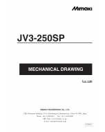 MIMAKI JV3 250SP MECHANICAL DRAWING Parts Manual