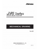 MIMAKI JV4 130 160 180 MECHANICAL DRAWING Parts Manual