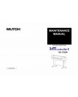 MUTOH ValueJet VJ 1324 MAINTENANCE Service and Parts Manual