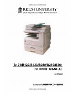 RICOH Aficio 2015 2016 2018 2018d 2020 2020D B121 B122 B123 B259 B260 B261 Service Manual