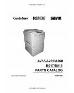 RICOH Aficio 3506 4506 3006 4006 4106 A258 A259 A260 B017 B018 Parts Catalog