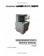 RICOH Aficio AP-2600 2600N 2610 2610N G056 G058 G073 G074 Service Manual