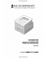 RICOH Aficio BP-20 BP20N G144 G145 Parts Catalog