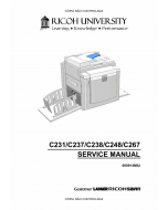 RICOH Aficio DX-3340 JP-1030 1230 3000 1235 C231 C237 C238 C248 C267 Service Manual