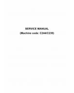 RICOH Aficio JP-5500 JP8500 C239 C244 Service Manual