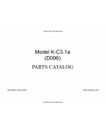 RICOH Aficio MP-1900 D096 Parts Catalog