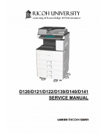 RICOH Aficio MP-2352SP 2852 3352 D120 D121 D122 D139 D140 D141 Service Manual