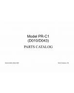 RICOH Aficio MP-2580 MP2500LN 2500 D010 D043 Parts Catalog