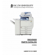RICOH Aficio MP-C2800 C3300 D023 D025 Parts Catalog