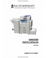 RICOH Aficio MP-C4501 C5501 D088 D089 Parts Catalog