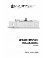 RICOH Aficio Pro-C720s C900s C900 C720 D016 D097 G178 M078 Parts Catalog