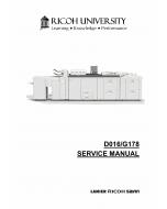 RICOH Aficio Pro-C900 C900s D016 G178 Parts Service Manual