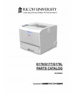RICOH Aficio SP-4100N 4110N 4100NL G176 G177 G176L Parts Catalog