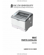 RICOH Aficio SP-6330N M047 Parts Catalog