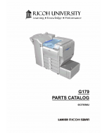 RICOH Aficio SP-8200DN G179 Parts Catalog