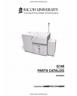 RICOH Aficio SP-9100DN AP900 G126 G148 Parts Catalog