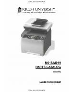 RICOH Aficio SP-C231SF C232SF M018 M019 Parts Catalog