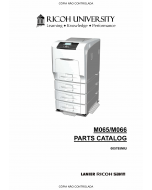 RICOH Aficio SP-C430DN C431DN M065 M066 Parts Catalog