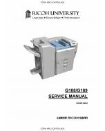 RICOH Aficio SP-C820DN C821DN G188 G189 Service Manual