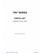 RISO RN 2000 2030 2050 2080 2100 2130 2150 2180 Parts List Manual