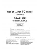 RISO TC 5100 Stapler-Option TECHNICAL Service Manual