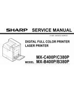 SHARP MX B400 B380 C400 C380 P Service Manual