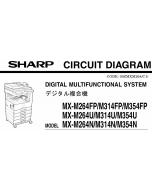 SHARP MX M264 314 354 U-N-FP Circuit Diagrams