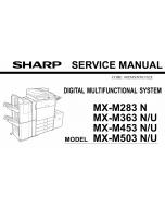 SHARP MX M283 M363 M453 M503 N U Service Manual