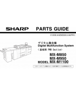 SHARP MX M850 M950 M1100 PWB Parts Manual