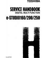 TOSHIBA e-STUDIO 160 200 250 DP1610 Service Handbook