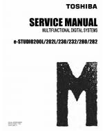 TOSHIBA e-STUDIO 200L 202L 230 232 280 282 Service Manual