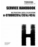 TOSHIBA e-STUDIO 281c 351c 451c Service Handbook