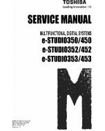 TOSHIBA e-STUDIO 350 450 352 452 353 453 Service Manual